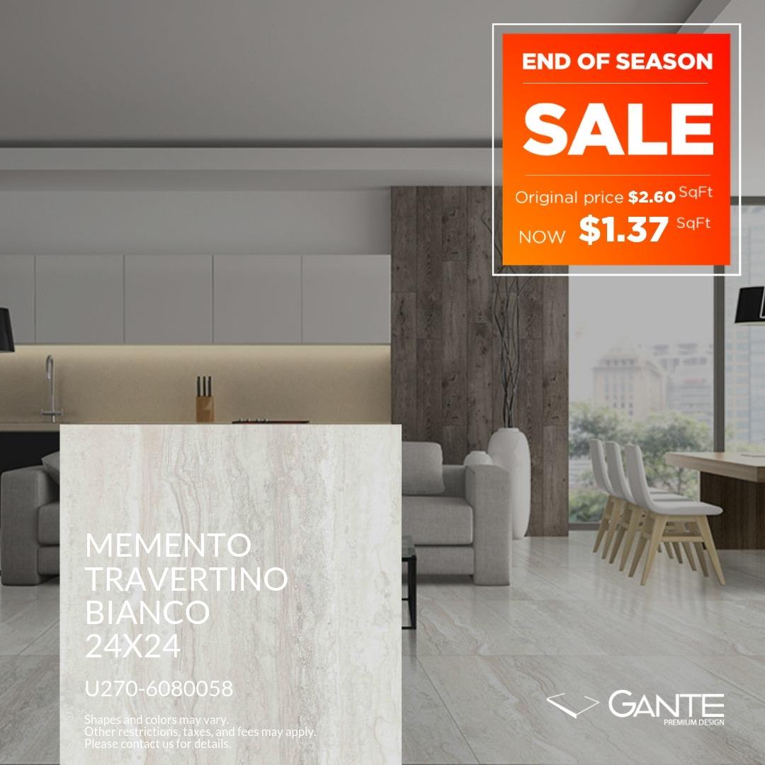 Special Offer - GANTE - Momento Travertino Bianco (Valid Till: June 30, 2019)