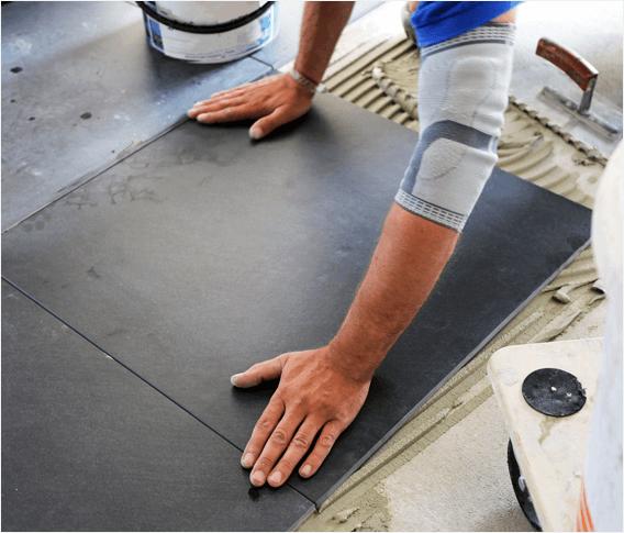 tile installation with laticrete