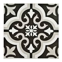 Black & white ceramic tile for office