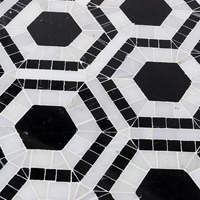 Asian statuary hexagon natural stone tile for dining room