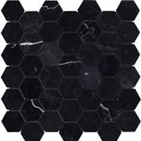 Honeycomb black natural stone tile for kitchen