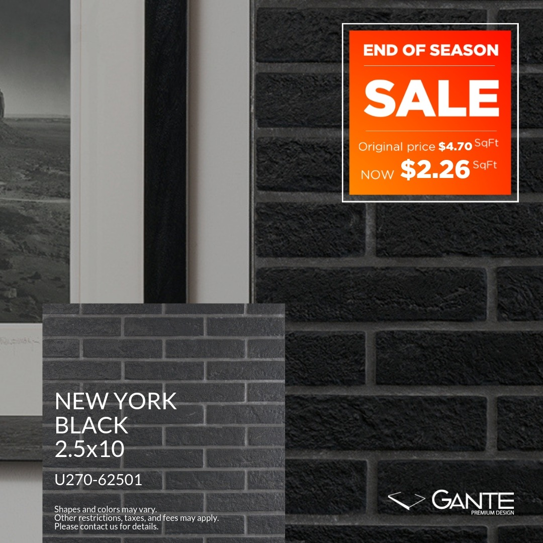 Special Offer - GANTE - New York Black (Valid Till: June 30, 2019)