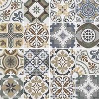 Multicolor porcelain tile for kitchen