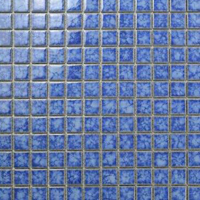 Mosaic style porcelain tiles for pool
