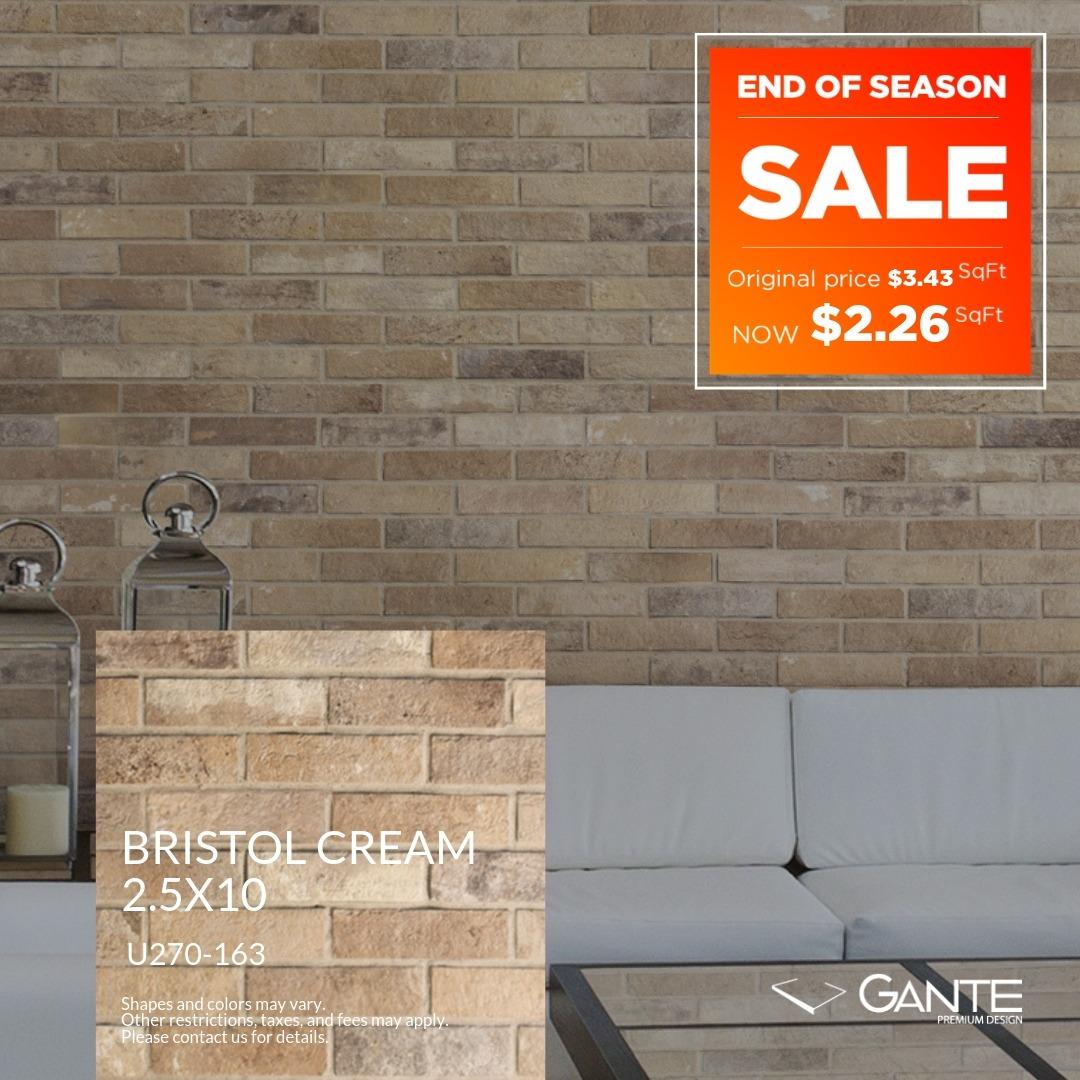 Special Offer - GANTE - Bristol Cream (Valid Till: June 30, 2019)