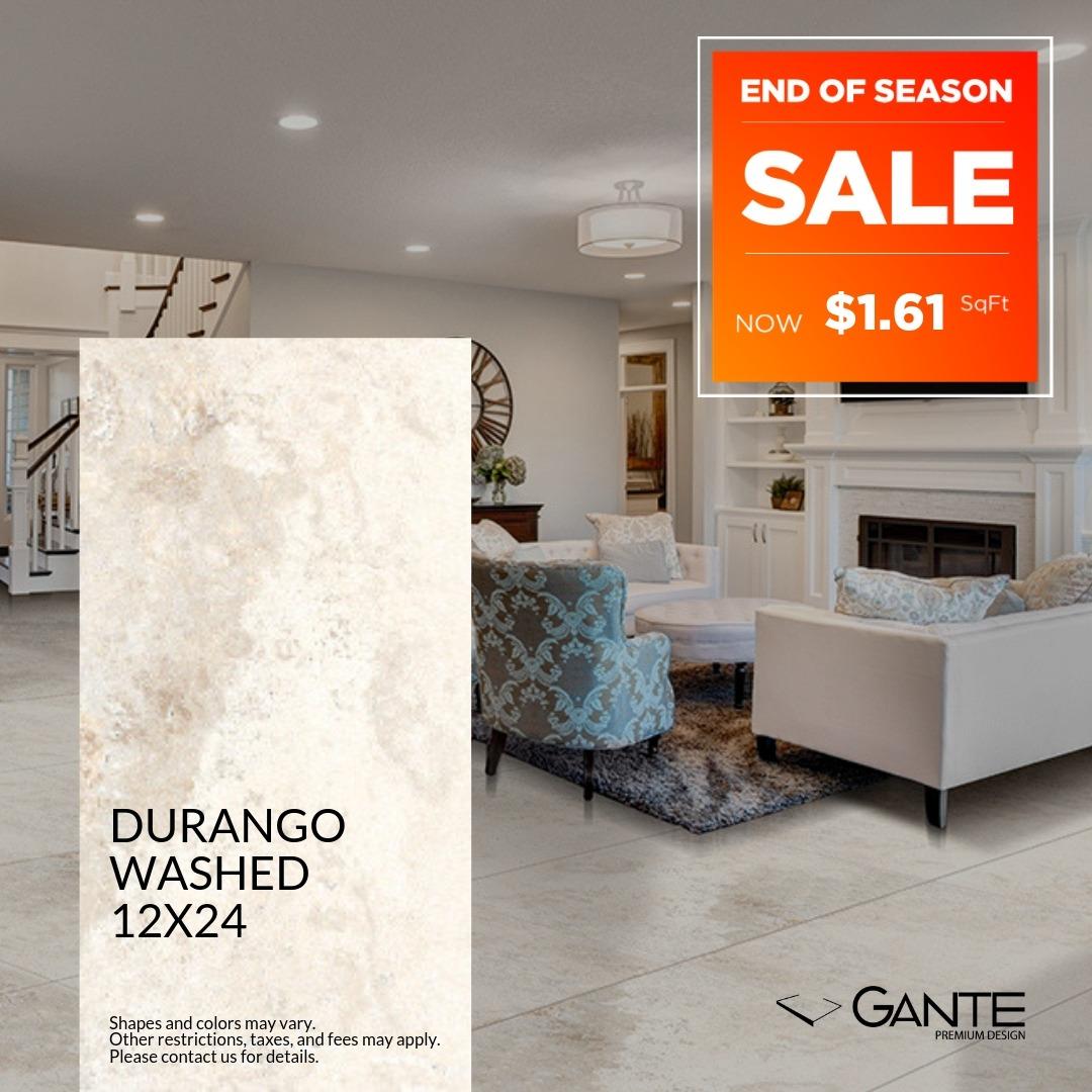 Special Offer- GANTE - Durango Washed (Valid Till: June 30, 2019)