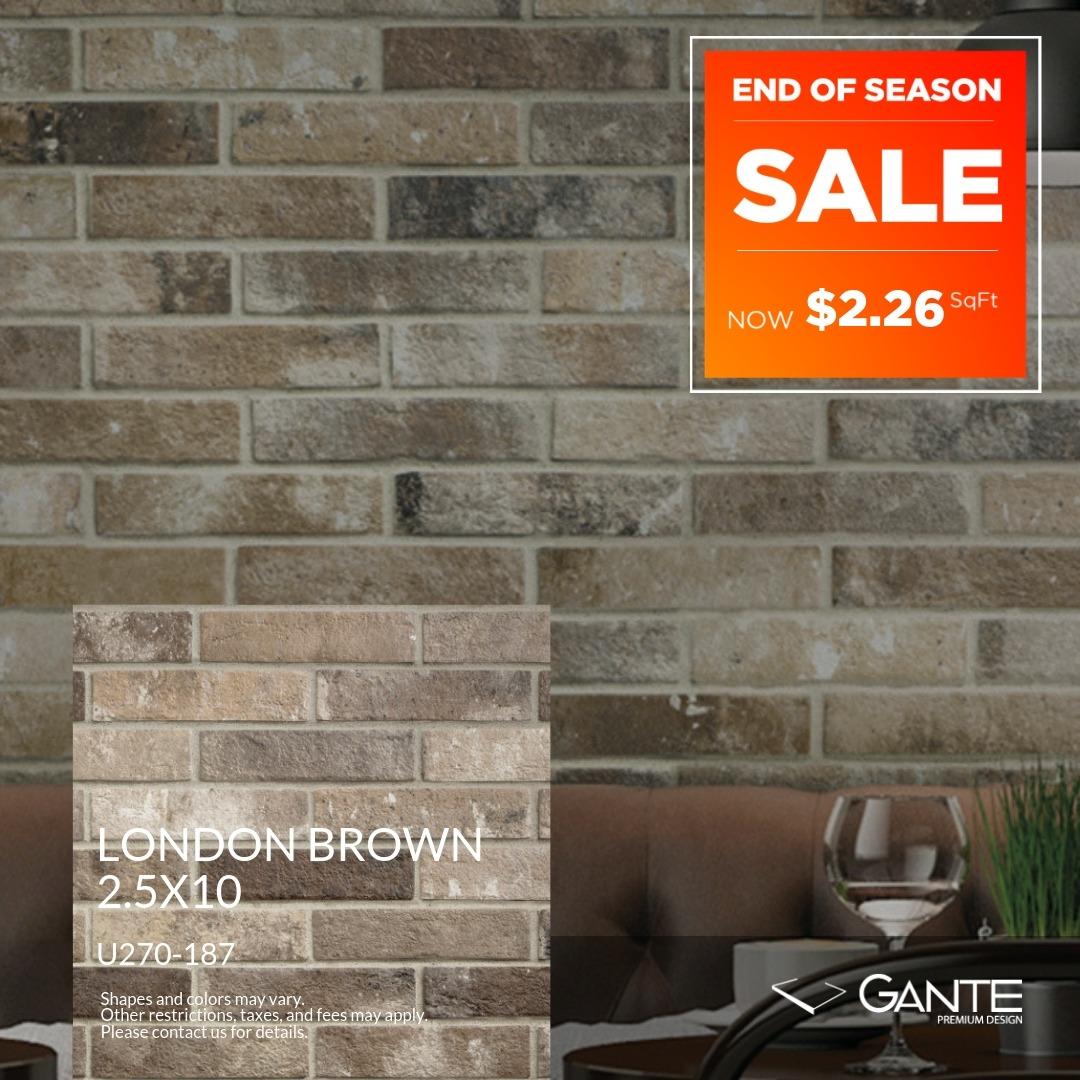 Special Offer- GANTE - London Brown (Valid Till: June 30, 2019)