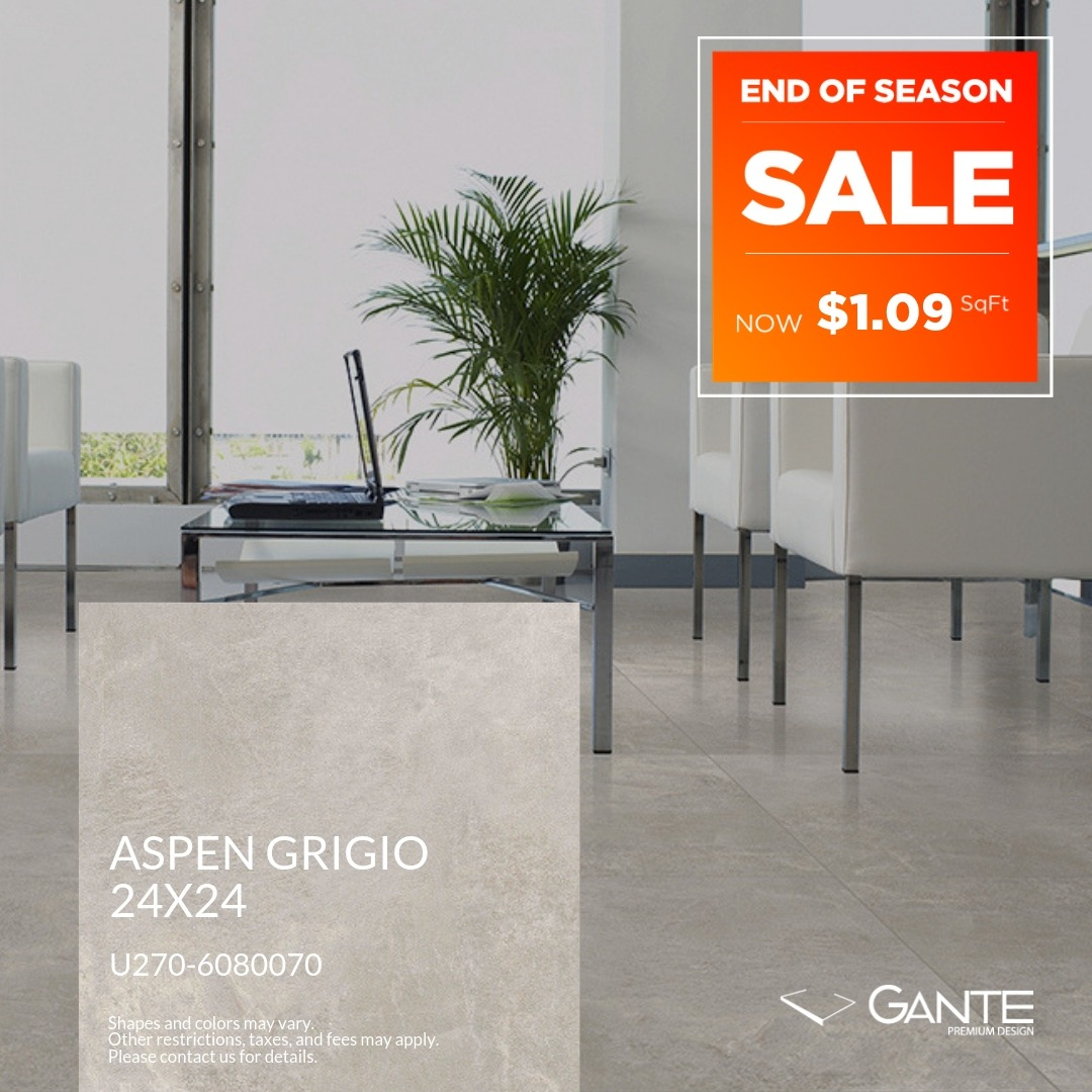 Special Offer - GANTE - Aspen Grigio (Valid Till: April 30, 2019)
