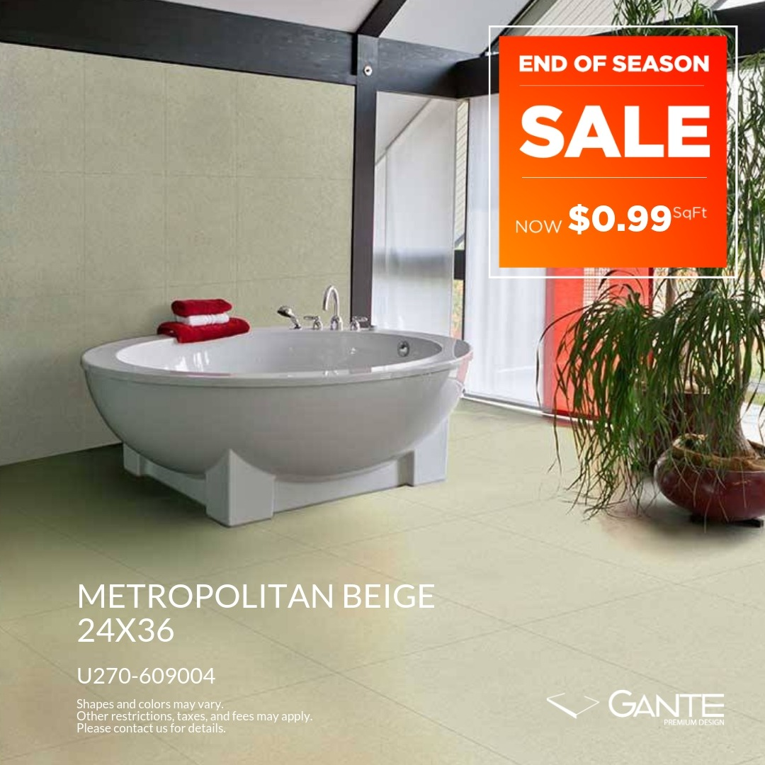 Special Offer - GANTE - Metropolitan Beige (Valid Till: April 30, 2019)