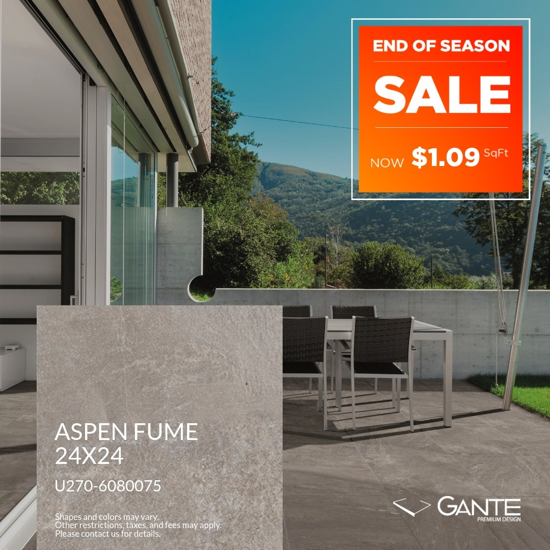 Special Offer - GANTE - Aspen Fume (Valid Till: April 30, 2019)