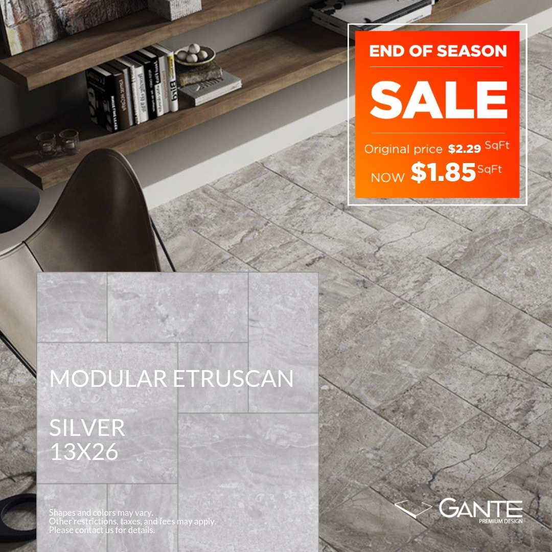 Special Offer - GANTE - Modular Etruscan Silver (Valid Till: April 30, 2019)