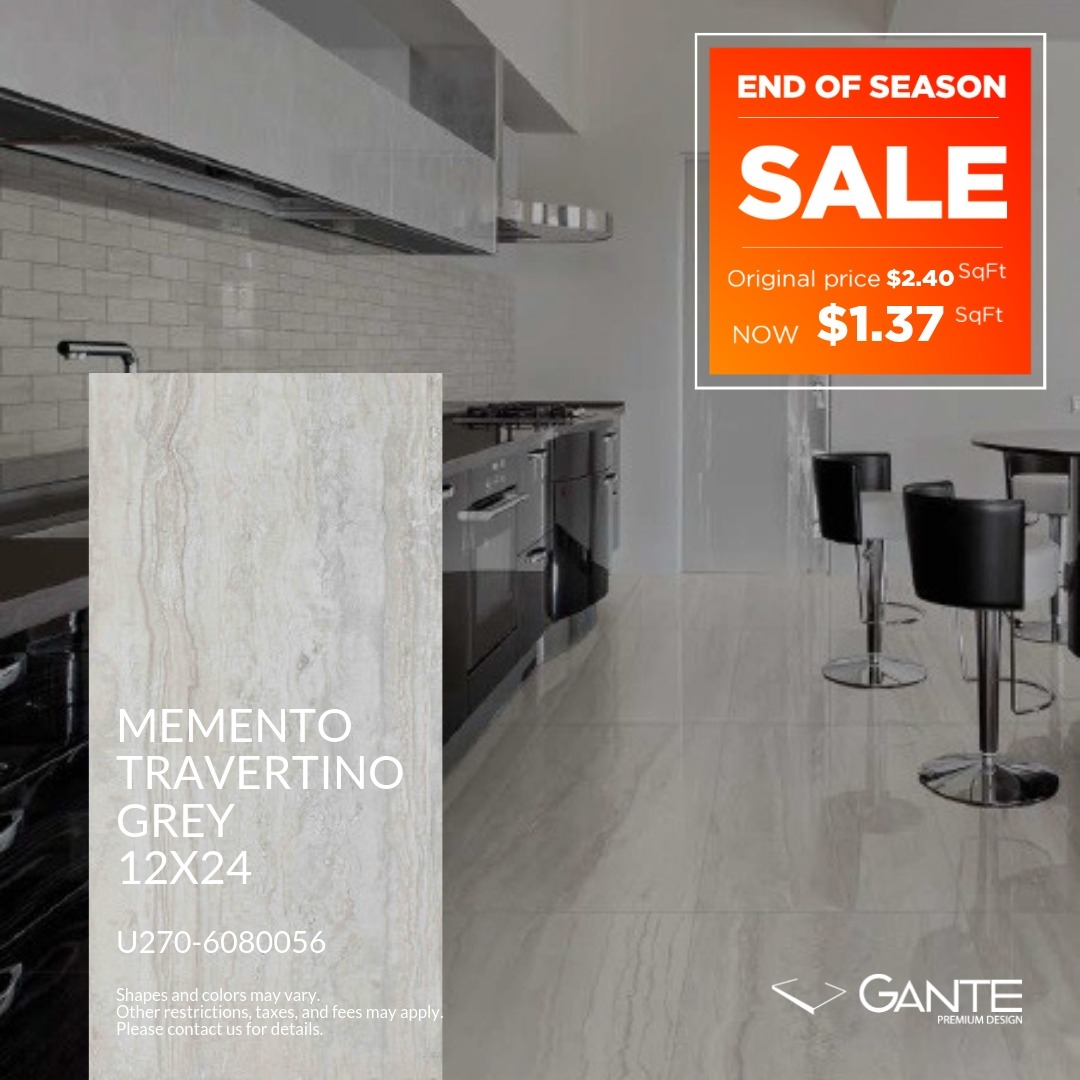 Special Offer – GANTE – Memento Travertino Grey (Valid Till: June 30, 2019)