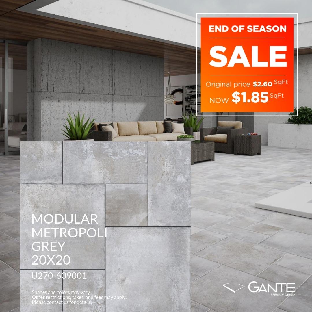 Special Offer – GANTE – Modular Metropoli Grey (Valid Till: June 30, 2019)