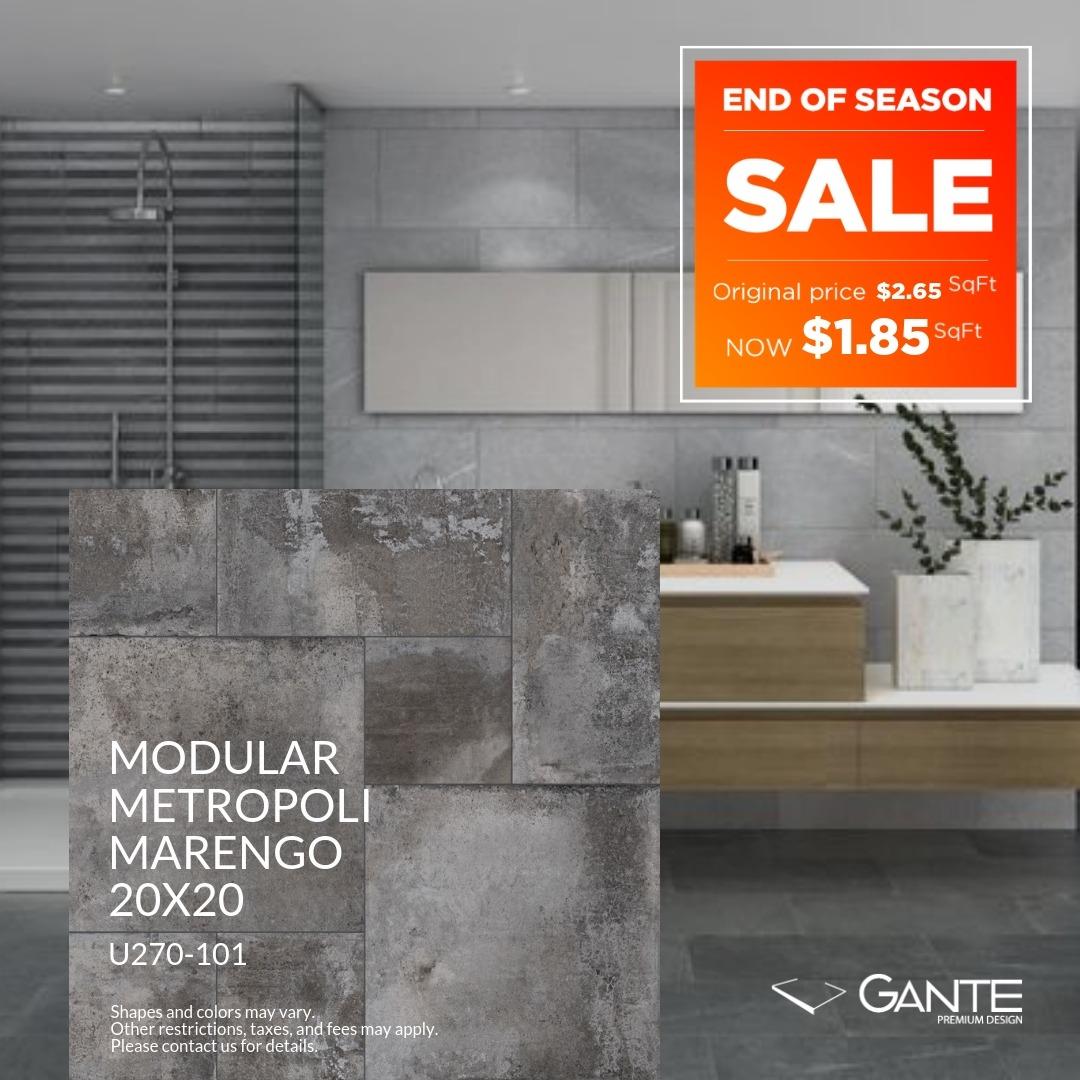 Special Offer – GANTE – Modular Metropoli Marengo (Valid Till: June 30, 2019)