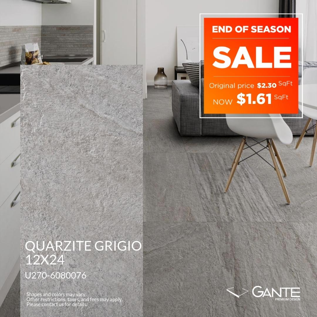 Special Offer – GANTE – Quarzite Grigio (Valid Till: June 30, 2019)