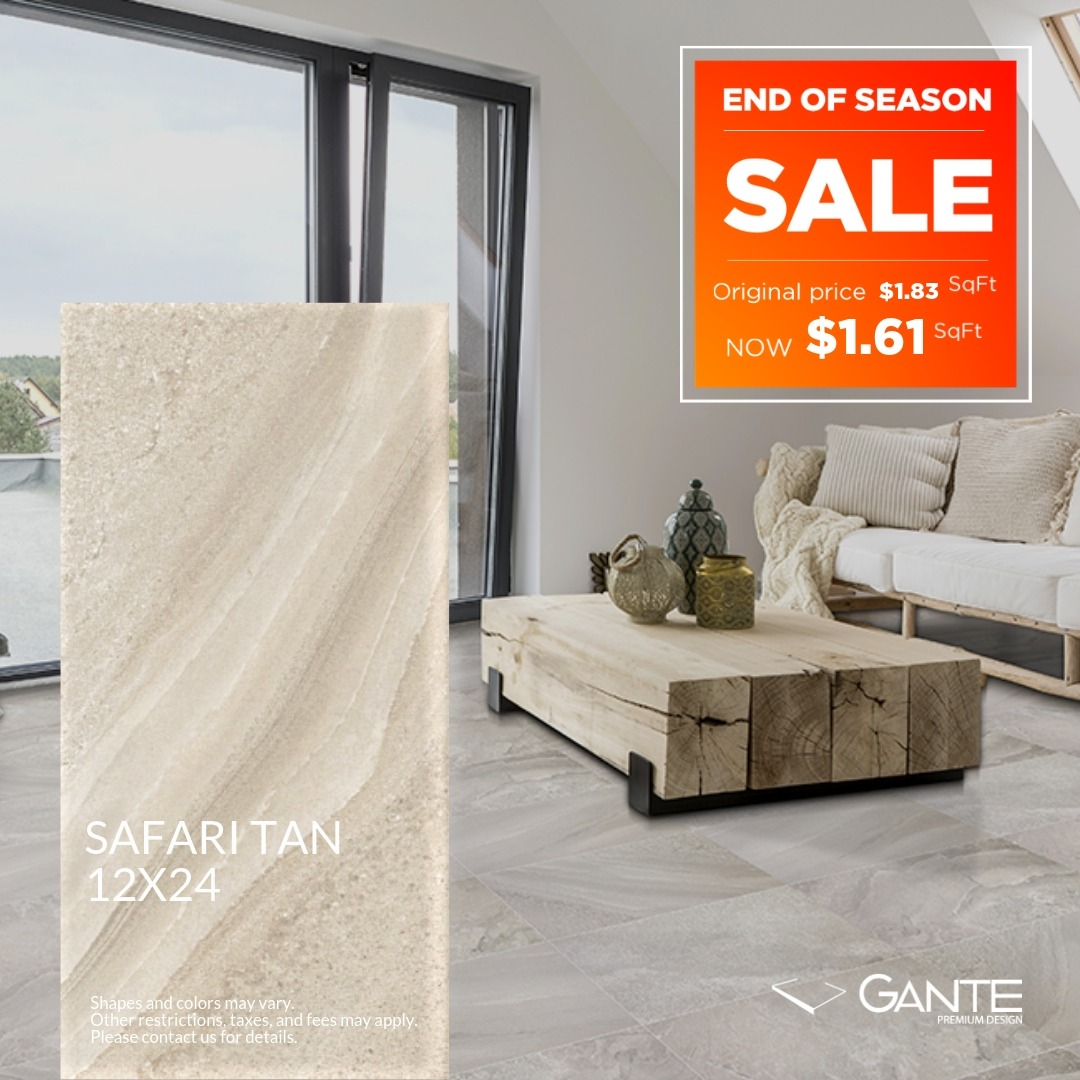 Special Offer - GANTE - Safari Tan (Valid Till: April 30, 2019)