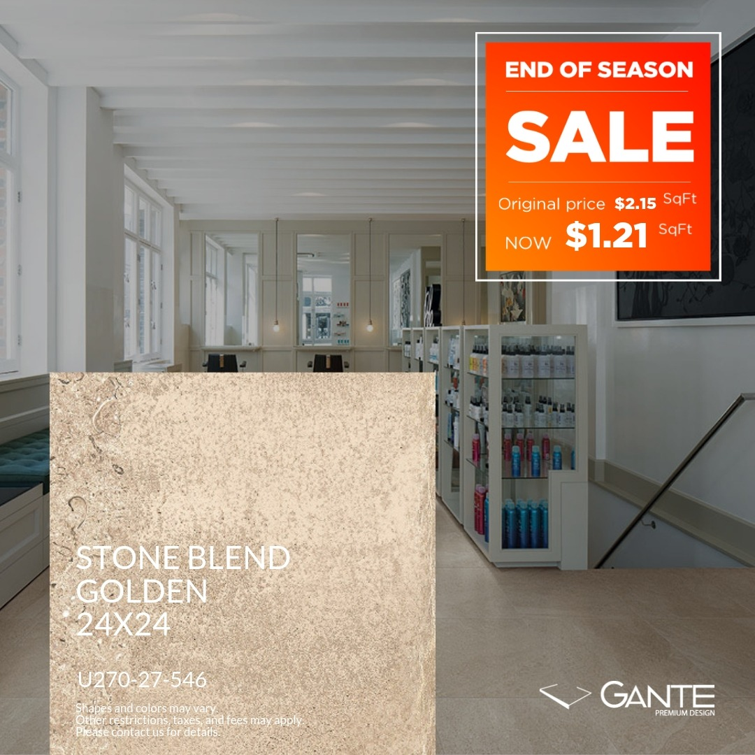 Special Offer - GANTE - Stone Blend Golden (Valid Till: April 30, 2019)
