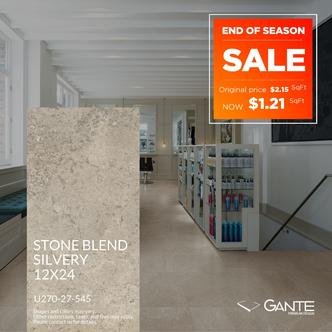 Special Offer - GANTE - Stone Blend Silvery (Valid Till: April 30, 2019)