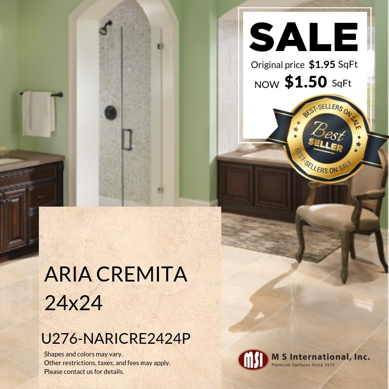 Best-Sellers ON SALE – Aria Cremita (Valid Till: May 30, 2019)